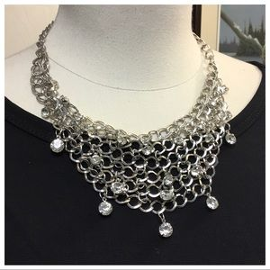 🆕 NEW SILVER NETTED SHORT NECKLACE